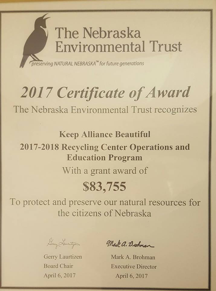 2017 Certificate of Award